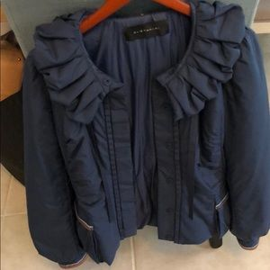 Elie Tahari large navy puffer coat jacket